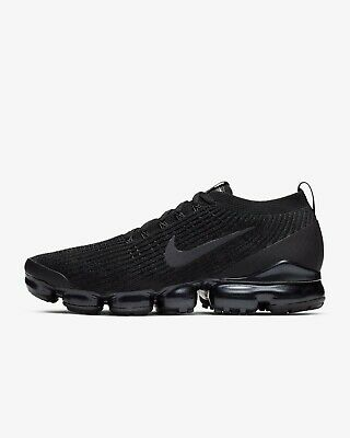 Nike Air VaporMax Flyknit 3 Black Silver Anthracite AJ6900-004 Men's Size 8-14