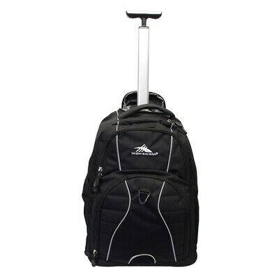 "High Sierra Freewheel 17"" Laptop Wheeled Carry-On Backpack Black"