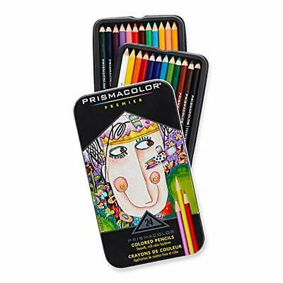 Prismacolor Premier Soft Core Colored Pencils, Assorted Colors, Set of 24