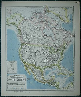 1883 Letts Map ~ North America United States Dominion Of Canada Mexico Cuba