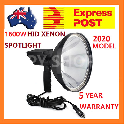 "1600W HID 9"" Handheld 240mm Camping Spot Light Spotlight Hunting Fishing OffRoad"
