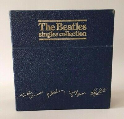"""#129 The Beatles Singles Collection 26 x 7"""" + 7"""" Pic Complete Box Set Near Mint"""
