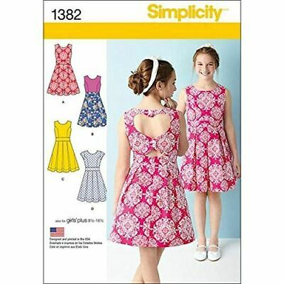 Simplicity Sewing Pattern 1382 Girls Dresses Size 8 1/2-16 1/2