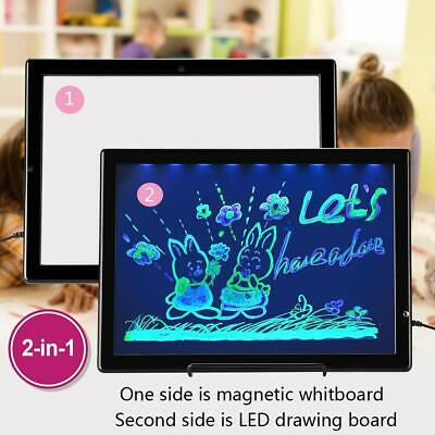 2in1 sensory LED light up drawing/writing board toy for special need autism ADHD