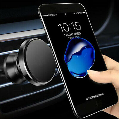 In Car Fixed Magnetic Phone Holder Fits Air Vent Universal Mount Various Colours