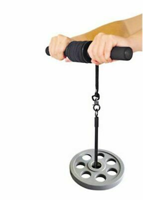 Wrist Forearm Roller Exercise Weights Strength Gym Bar Arm