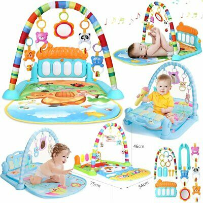 4 in 1 Baby Gym Floor Play Mat Musical Activity Center Kick And Play Piano Toy