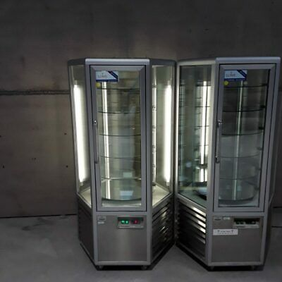 Commercial Rotating Cake Display Chiller Fridge Techfrigo Snelle 600 R