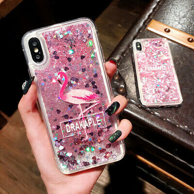 Flamingo Quicksand Pattern Soft Slim Case Cover For iPhone XS Max XR 8 7 6s Plus