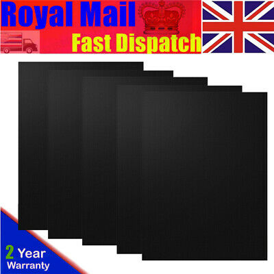 5x BBQ Grill Mat Teflon Reusable Sheet Resistant Non-Stick Barbecue Bake Meat UK