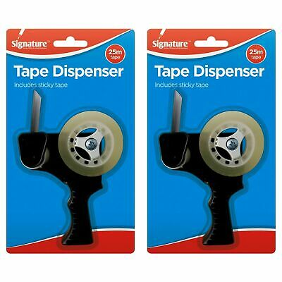 4pk Handheld Tape Dispenser | Ergonomic Grip Handle | Comes With Clear Tape