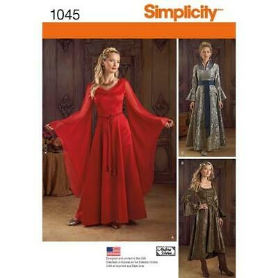 Simplicity Sewing Pattern 1045 Misses Ladies Fantasy Costumes Size 6-12 Uncut