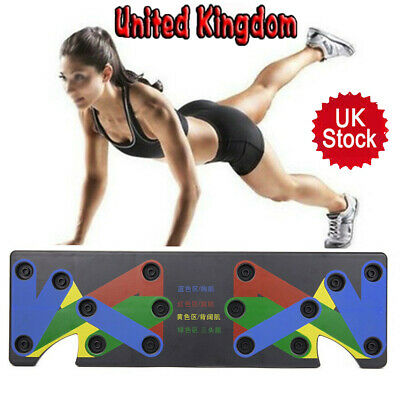 9in1 Unisex Push Up Board for Muscle Fitness Workout Train Gym Exercise Stand UK