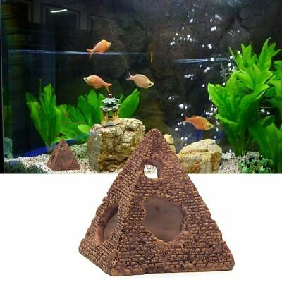 Aquarium Decoration Fish Bowl Decor Cave House Egyptian Pyramid  Egypt