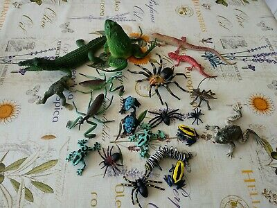 Job Lot of Spiders, Frogs, Insects, Lizards etc. - Various Sizes and Types