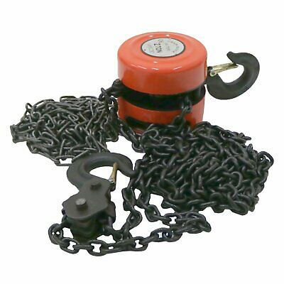 NEW! 2 Ton Workshop Chain Lifting Block & Tackle CarHoist Heavy Duty Load