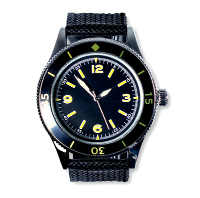 EAGLEMOSS FRENCH NAVY DIVER 1950's REPLICA MILITARY WATCH #90 NEW IN BOX £4.99