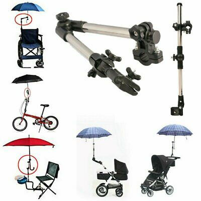 Umbrella Clamp Support Connector Holder Pipe Bar Wheel Chair Babycar Attachment