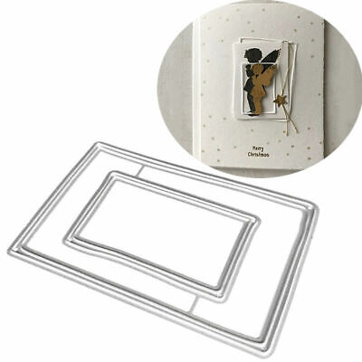 Rectangle Frame Metal Cutting Dies Stencil Scrapbooking Paper Card DIY Embossing