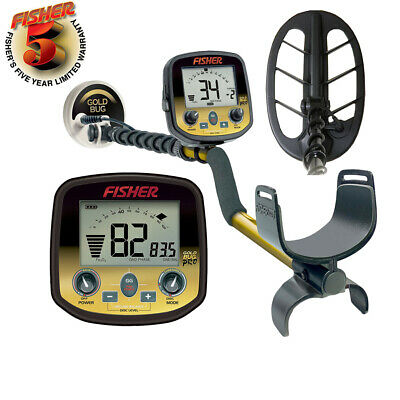 "Fisher Gold Bug Pro Metal Detector Gold hunter scanner with 5"" and 10"" coils"