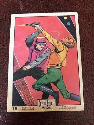 Anglo Captain Scarlet #18 Bubblegum Card In Very Good Condition