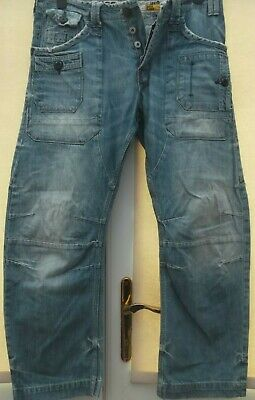 Mens RIVER ISLAND Blue Jeans 34R Pockets, Button Fly
