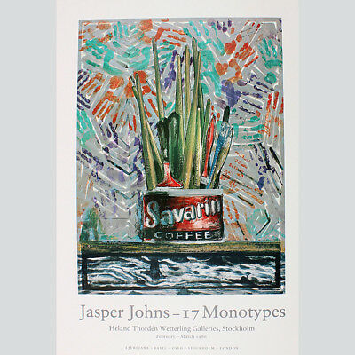 Jasper Johns. Ausstellungsplakat 17 Monotypes, Stockholm 1986.