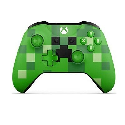 Control Pad  Xbox One  Wireless - Minecraft Creeper - GREEN