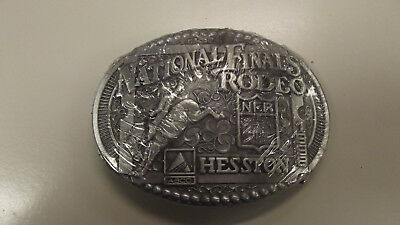 1998 HESSTON National Finals Rodeo Belt Buckle Sealed 16