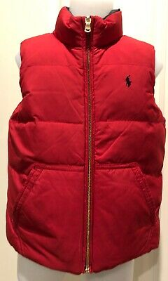 Ralph Lauren Red & Plaid Reversible Quilted Vest - Size 6