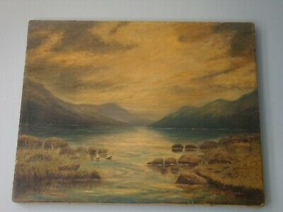 Old Oil Painting signed D. McLeod. Scottish School