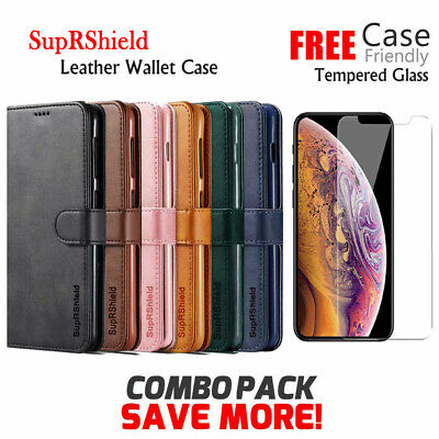 For Apple iPhone XR X XS XS Max 7 8 Plus Wallet Case Card Slot Flip Stand Cover