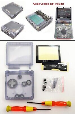 Transparent Clear Glacier Shell Housing Case For Game Boy Advance SP GBA SP