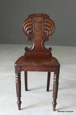 Antique Regency Mahogany Bedroom Occasional Side Hall Chair