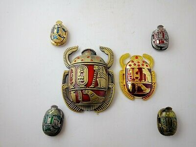 COLLECTION ANCIENT EGYPTIAN MODERN ANTIQUE SCARAB Replica Pharonic Style
