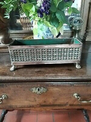 A Lovely Arts And Crafts Copper Planter Small Lattice Basket Copper