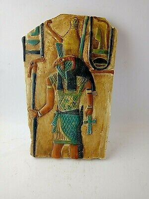 ANCIENT EGYPTIAN MODERN ANTIQUE Horus Stela Replica Pharonic Style