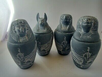 ANCIENT EGYPTIAN MODERN ANTIQUE Canopic Jars Replica