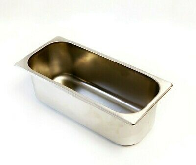 Gelato / Ice Cream 5 Liter Pan Stainless Steel, Narrow (Made in Italy)