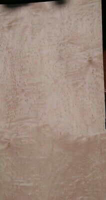"Birdseye w/ flame maple veneer 23 1/4"" x 13 1/8"" Luthier raw wood guitar buckled"