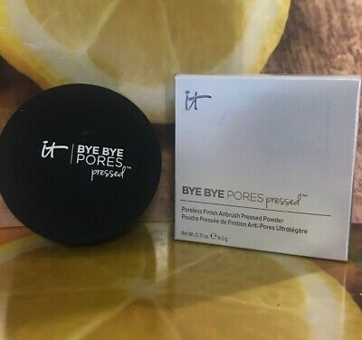 IT Cosmetics Bye Bye Pores Pressed Translucent Anti Aging Finishing Powder NEW
