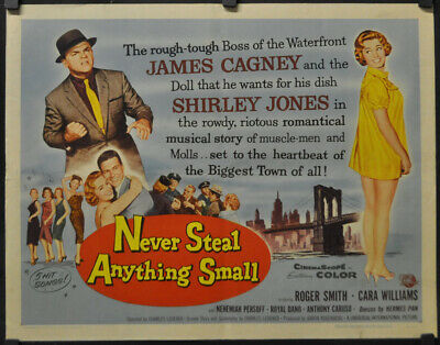Never Acier Anything Taille S 1959 Original 22X28 Poster Film James Cagney