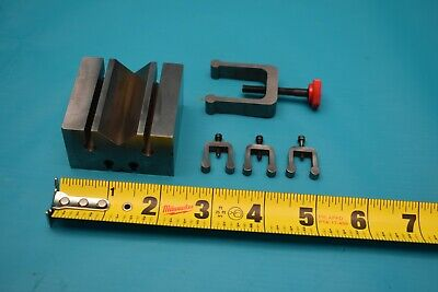 """1-5//8/""""x1-3//4/""""x2-3//4/"""" NEW Pair National Precision Ground V-Blocks and clamps #D"""
