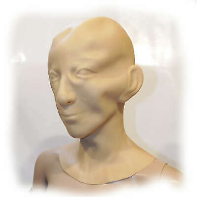 Latex Human Mask Men 1,6 mm Size one size (2742)