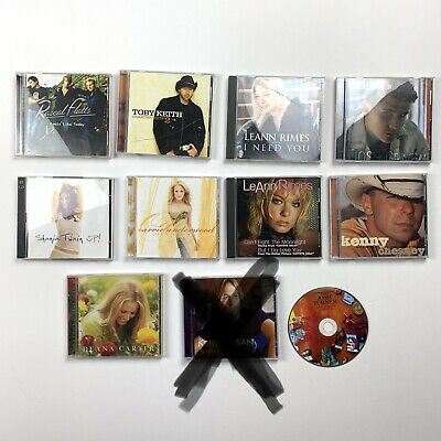 Lot Of Country Music CD Toby Keith Carrie Underwood Rascal Flatts Shania Twain