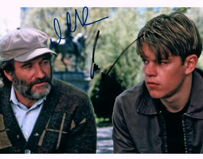 Robin Williams Matt Damon Signed 8x10 Photo +COA great looking autographed Pic