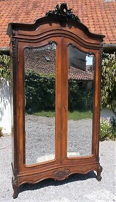antique wardrobe,mirrored French armoire, mahogany ,storage, hanging,shelves