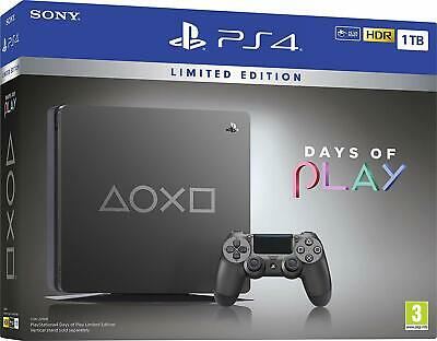 Days of Play Limited Edition Steel Black 1TB Console NEW & SEALED - IN STOCK NOW