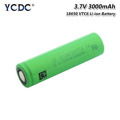 18650 vtc6 battery 3000mah rechargeable high drain 30a output cell flat top 0BD
