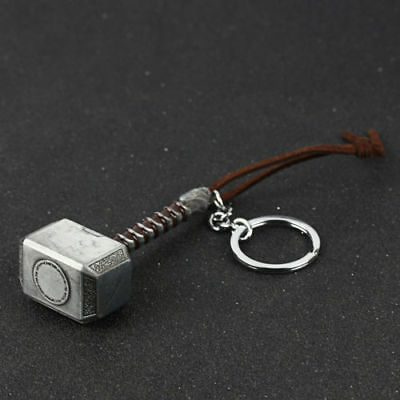 Marvel Avengers Thor Thor's Hammer Metal Keyring Keychain Silver Key Chain Punk